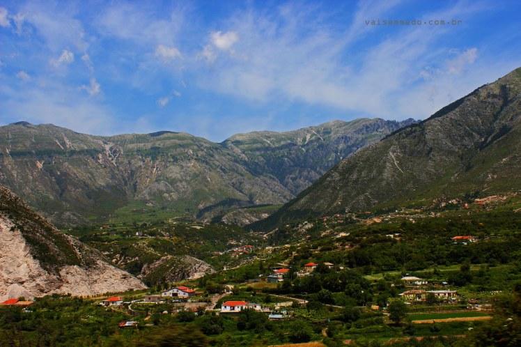 Paisagem na Albânia