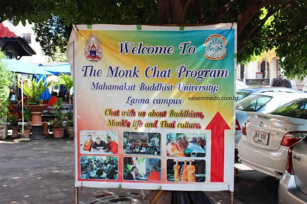 Monk Chat em Chiang Mai, a parte mais interessante da viagem.