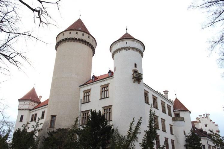 O Palácio de Konopiště. (Foto: arquivo pessoal)